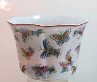 Übertopf Keramik Schmetterling wunderschönes Design Blumentopf (D)