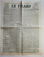 N942 La Une Du Journal Le Figaro 1er Août 1914 guerre imminente
