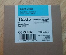 09-2013 New Genuine Epson T6535 200ml Light Cyan Ultrachrome HDR Ink 4900
