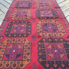 Handmade Afghan Bahor Accent Rug 4x6, Camel Hair Natural Dyes, Tribal & Nomadic