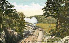 c1905 Boston & Albany Railroad B&A RR Series -Btwn Huntington & Russell Postcard