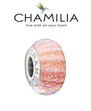 Genuine CHAMILIA 925 silver CORAL REEF Murano charm bead, pale peach pink