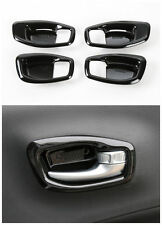 Car Inner Door Handle Bowl Trim Cover Frame for Jeep Compass 2017- Black