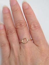 Sterling Silver 925 Open Circle Ring Womens 7mm Size 6 - 9