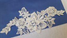 3D Bridal Ivory White Floral Embroidery Appliques Motifs Lace  EB0234