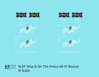 K4 N Decals SLSF Frisco 40 Ft Boxcar White Ship It On The Frisco