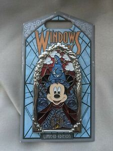 Disney NEW 2019 Windows Of Magic Sorcerer Mickey Pin Limited Edition LE 2000