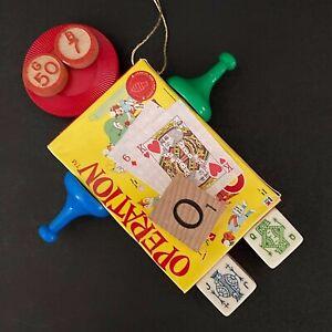 Board Game Christmas Ornament Operation Scrabble Bingo Dice Poker Chip Cards