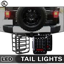LED Tail Lights Brake Reverse Turn Signal Jeep Wrangler JK 07-17 Rear Lamp+Cover