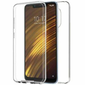 Funda doble 360º Para Xiaomi Pocophone F1 Delantera y trasera Gel Transparente