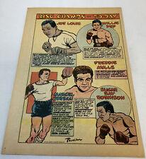 1949 boxing cartoon page ~ JOE LOUIS, WILLIE PEP, SUGAR RAY ROBINSON, more