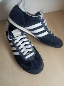Mens Adidas Dragon Blue Suede Mesh Trainers UK 9 EU 43 1/3