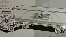 "FIRST GEAR EASTWOOD ""JOHNNY LIGHTNING"" 1953 WHITE 3000 RACTOR TRAILER 1 OF 1000"