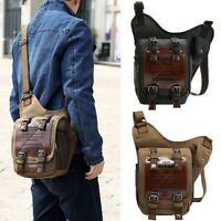 Men Tactical Canvas Messenger Shoulder Bags Multi-use Travel Satchel
