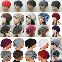 Men Women Winter Warm Slouch Beanie Cap Skull Crochet Knit Baggy Ski Hat Outdoor