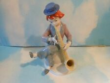 Beautifull Porcelain Sax Player Figurine..Goebel W. Germany No Box Nice Shape