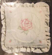 Janlynn Charmin Dusty Rose 00-92 Sealed Candlewicking Pillow Kit 14x14 Vintage