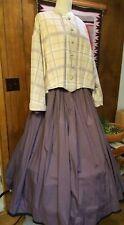 Reproduction Civil War Era Plaid Tea Bodice & Mauve Skirt Size 2X 100% Cotton