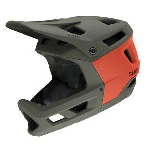 Smith Mainline MIPS Full Face MTB Bike Helmet Medium 55-59cm Matte Sage/Red Rock