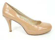 Madden Girl Getta Shoes Pump Heel Womens Size 9.5 Beige Nude Faux Leather Upper