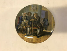 Vintage Antique English Ceramic Box w/ Dr. Johnson & Other Men Decoration