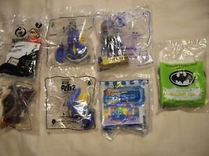 7 SEALED MCDONALD HAPPY MEAL TOYS BATMAN TOY STORY PETS II LION KING INCREDIBLES