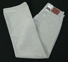 New LEVI'S 527 Men's (Size 34 x 32) Beige Corduroy Boot Cut Pants Straight Fit
