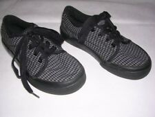 Maui and Sons Kids Lace-Up Black & Gray Checkered/Plaid Shoes Boy Size 13. Nice!