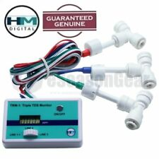 HM Digital TRM-1 Triple Inline TDS Monitor with 3x 1/4 Fittings, PPM DM Meter