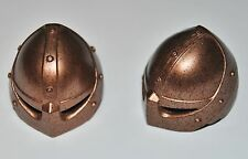 17663 Casco celada cobre viejo 2u playmobil,helmet,capacete,casque