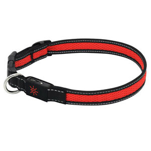 Mighty Pet USB Rechargeable LED Dog Collar Glow Light Up Safety Pet Collars Red