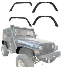 CA Stock Matte Black Front & Rear Fender Flares For 97-06 Jeep Wrangler TJ