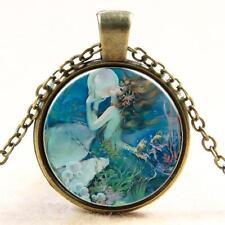 antiker Look Bronze Anhänger Halskette - Mermaid Design cg0317