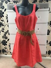 Nine West Summer Holiday  Dress Coral/ Red Used VGC Size 12 (US 8)