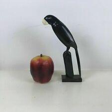Folk Art Carved Buffalo Bone Horn Carved Bird Parrot
