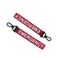 Emergency Key Chain Keyring Luggage Tag Zipper Pull Bag SOS Key Ring