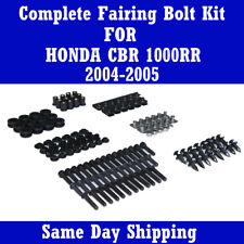 Motorcycle Fairing Bolt Kits Black Screws for HONDA 2004 2005 CBR 1000RR