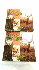 Napkins or Serviettes, 3 ply paper,Deer,fox,Owl,Forest residents (20) 33 x 33cm