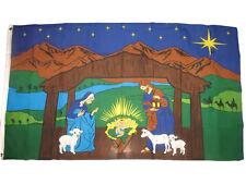 3x5 Nativity Scene Poly Flag 3'X5' Christian Christianity Baby Jesus Mary Joseph