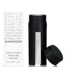 Nanogen Hair Thickening Fibres Dark Brown 30g 2 months supply Natural Keratin