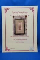 The Nutmeg Needle SPRING SAMPLINGS X Stitch Chart Tulip Violet Daffodil Flowers