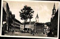 Lobenstein Marktplatz Kirche Baum Echt Fotografie Ansichtskarte Postkarte AK PK