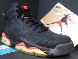 1991 ORIGINAL OG NIKE AIR JORDAN VI 6 BLACK INFRARED RED BRED 4391 NEW 9
