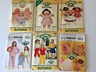 Lot 6 Cabbage Patch Doll Sewing Patterns Clothes Accessories Kids Clothing Vtg