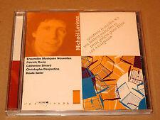 CD Michaël Levinas Musique de Chambre - Patrick Davin - Accord