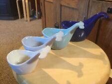 Pre Owned 10 Strawberry Street Whale Ceramic Measuring Cups (Pack of 4)