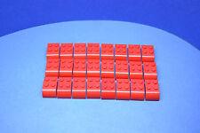 LEGO 24 x Stein modifiziert Bogenstein 2x3 rot | Modified curved top 6215 #Str21