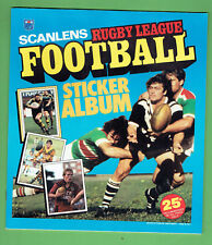#BB9. SET 1983 SCANLENS RUGBY LEAGUE UNMOUNTED STICKERS & ALBUM