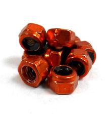 HY00003O M3 3mm Nylon Alloy Nylon Lock Nuts x 10 Orange