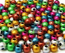 Round Bead 4 mm Mix Metallic Color Plastic Beads for beading 300 pcs